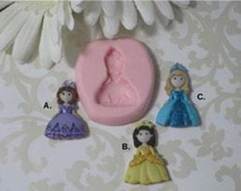 Princess Molds - Molds of Princess - Flexible Princess Molds - Silicone Molds - Food Safe Molds - Molds For Crafts - Molds For Fondant
