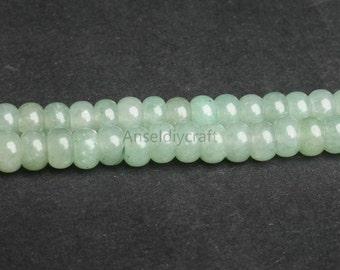 C333 Natural Aventurine Beads,Rondelle Beads, Full Strand 5x8 4x6mm Green Aventurine Gemstone Beads for DIY Jewelry Making