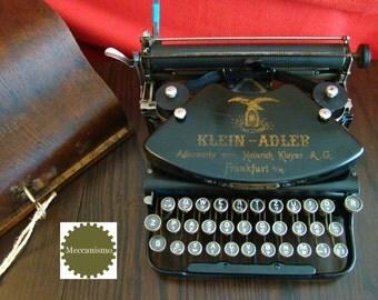 Fabulous KLEIN-ADLER classic german collectible typewriter