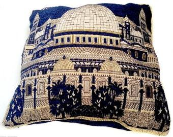 "Blue Pillow case Cover Jerusalem Old City Home Decor Holyland Israel 15.7""Israel"