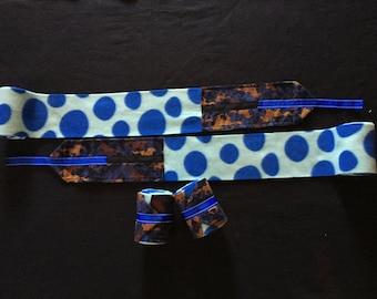Polo Wraps - Blue Polka Dot
