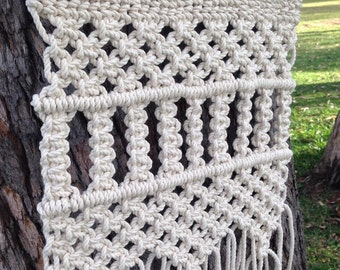Macrame with fringing/ Rope Wallhanging / wall art decor