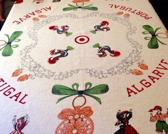 SALE Vintage Portugal tablecloth