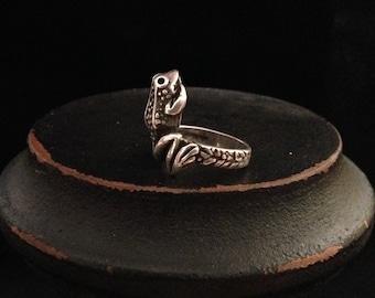 Sterling Silver vintage frog ring