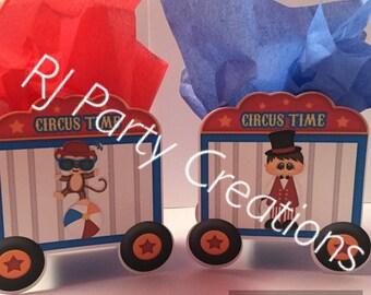 Circus Theme Party Favor boxes.