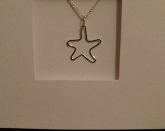 Star Fish Sterling Silver Pendant