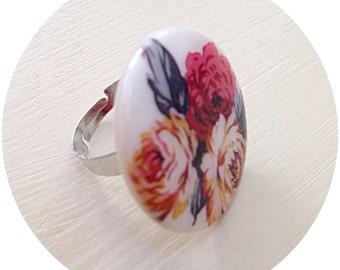 Rose vintage style ring