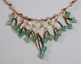 Falling Leaves Necklace and Earring Set -- NOW 30% OFF