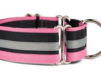 Martingale Dog Collar, Martingale Collar, Pink Dog Collar, Italian Greyhound Collar, 1.5 Inch Dog Collar, Dog Accessories, Glam