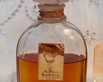 Burdin, Les Fleurs, 125 ml. or 4.23 oz. Flacon, Pure Parfum Extrait, 1936, Paris, France ..