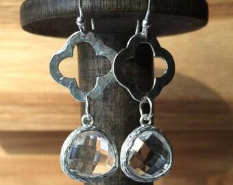 Delicate Dangle Earrings with in Sterling Silver