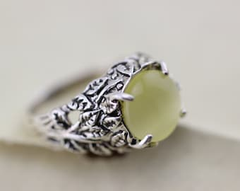 the leaf ring with yellow cat eye jewelry party love tree ,Halloween jewelry Christmas gifts R132A