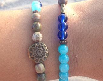 Blue Lagoon bracelet set