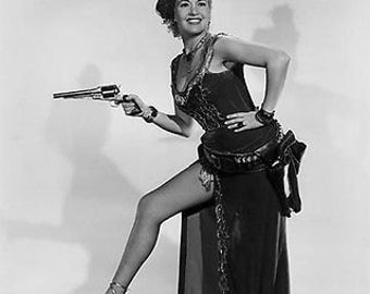 Betty Grable With Gun  B/W 8x10 Photograph