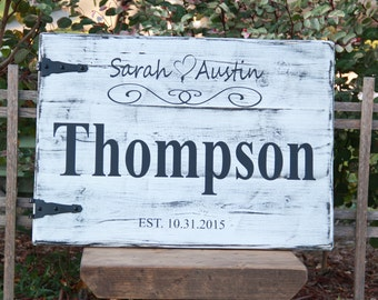 Personalized Wedding Name Signs