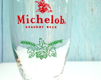 Vintage Michelob Holiday Glass