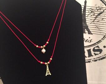 Red Paris necklace