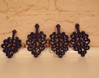 Set of 4 Small Trivets - Beautiful Pattern/Design