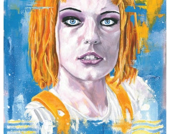 Fifth Element Leeloo A3 giclee signed print