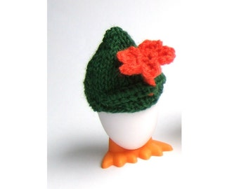 Egg Cozy Gentleman with orange flower