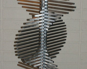 Metal Construct #1 kinetic aluminum sculpture (local delivery only)