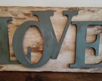 Love Wooden Wall Decor - Love Wood Sign - Rustic Wood Sign- Love Decor - Valentine's Day Gift - Mantle Decor
