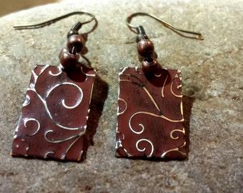 Vintaj Brass Earrings~ Beaded Earrings