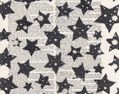 Stars Print Vintage Dictionary Art Print Black and White Laser Ink Printed on Vintage Dictionary Pages One of a Kind