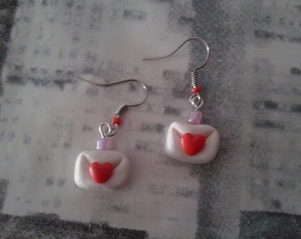 Earrings love letter