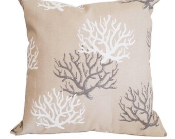 Outdoor Coral Cushion Cover in Sand