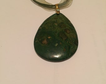 Ghost face jasper pendant