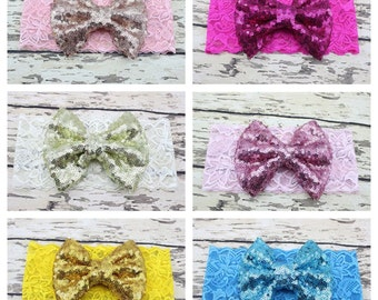 Lace sequined headband
