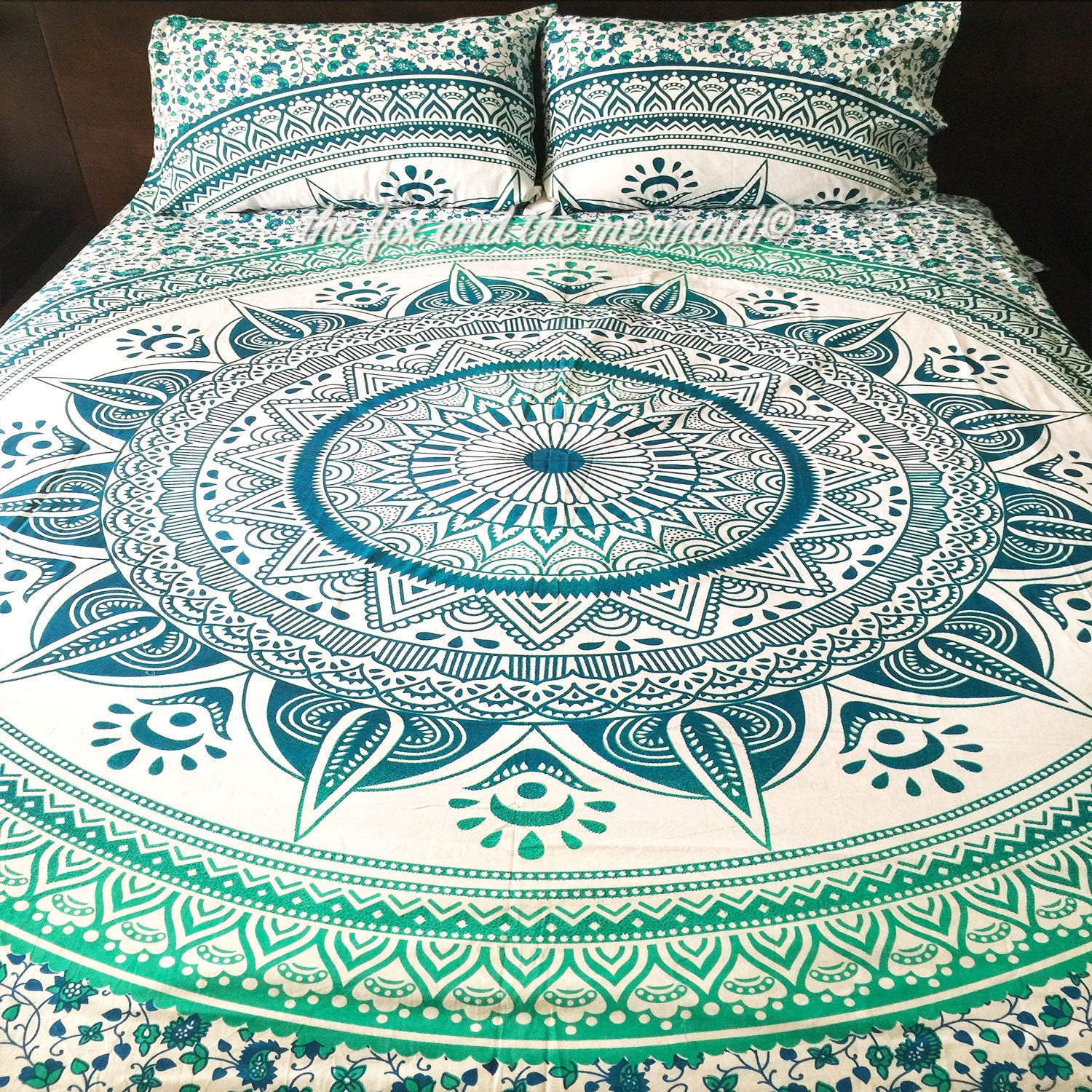 Mandala Quilt Cover 2 Matching Pillowcases By