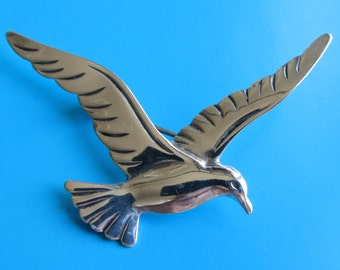 Beau Sterling Silver Seagull Pin Brooch
