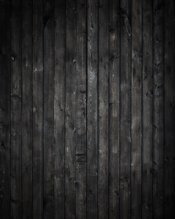 Black Wood Backdrop rustic old dark plank wooden floor