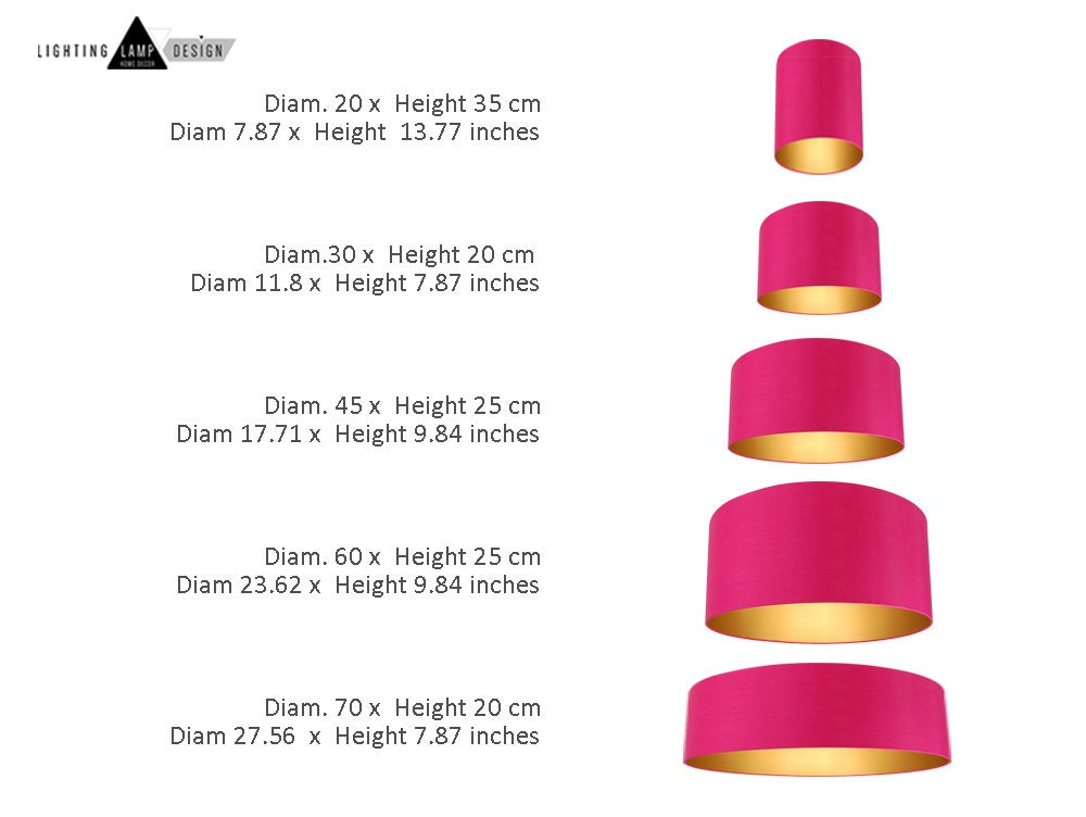 Mid century modern lamp shade - Drum ceiling Lightshade - extra ...