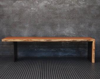 table,coffee table,table living room,bench, wood,furniture,natural bench, wood,steel,metal,handmade,solid,modern,design, bureau solid steel