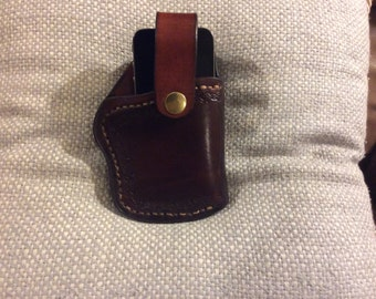 Cell phone holster for an I-Phone 5