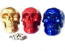 Custom Color Skull Decor - Halloween Decor - Faux Taxidermy - Human Skull Head - Gothic Decor - Faux Skull Statue - Halloween Decorations