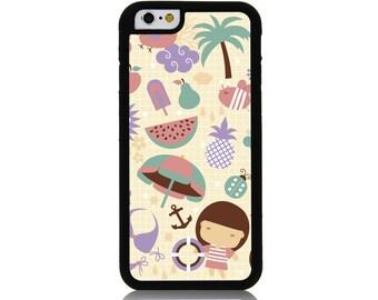 Hawaii Umbrella Vacation Cover Case for Apple iPhone 7 7 Plus 6 6S Plus Samsung Galaxy S7 Edge S6 Plus Note 5 6 7 8 9 10 att sprint verizon