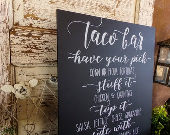 Wedding Chalkboard Menu, wedding Chalk Art,Typography, Chalk Menu,  Wedding sign, Wedding Chalkboard, Handmade, Taco bar menu, chalk