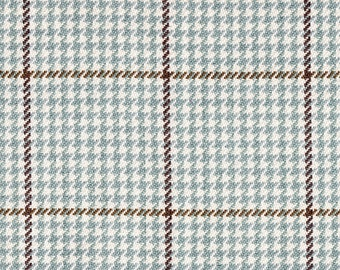Round Tablecloth Pembrook Houndstooth Seaglass