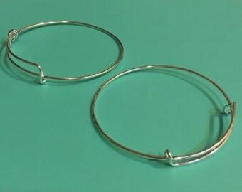 5 Silver Plated Bangle Bracelet High Quality B70-30D