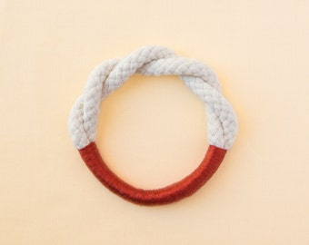 Rope Bracelet - Twisted Rope Bracelet, twisted cotton wrapped bracelet