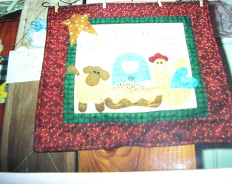 away in the manger wall hanging