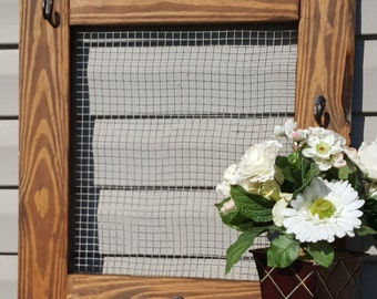 Rustic Chicken Wire, Wall Jewelry Organizer, Chicken Wire Photo Frame, Chicken Wire Frame, Gift for Her, Jewelry Display, Crafts By Gaddis,