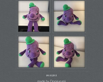 Crochet pattern Lilaflie, PDF file