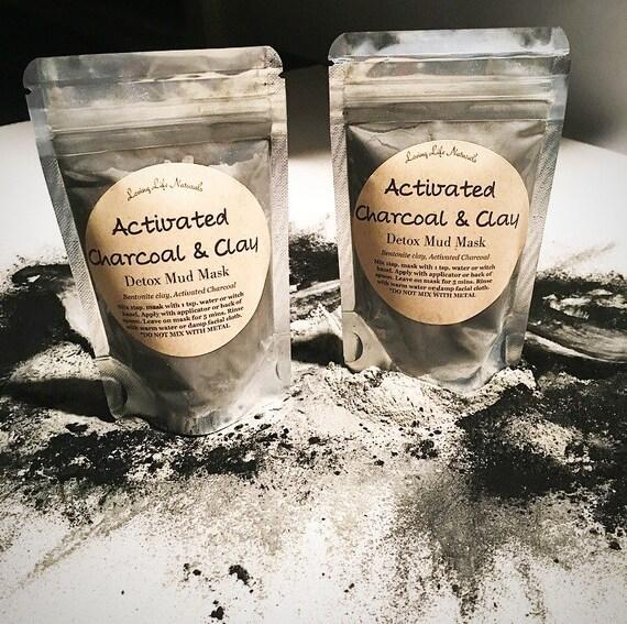 Bentonite Clay And Activated Charcoal Face Mask: Charcoal Mud Mask Activated Charcoal & Clay Detox Facial Mud