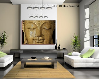 Buddha Canvas wall Art (FRAMED>UK ONLY) Calm Rich Brown Excellent quality Rolled Canvas or Framed