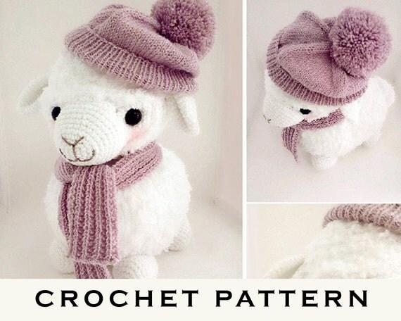 Alpaca Amigurumi Crochet Patterns : Lilo The Baby Alpaca Amigurumi Crochet Knitting Pattern PDF